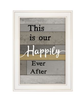 """Happily Ever After by Karen Tribett, Ready to hang Framed Print, White Frame, 15"""" x 21"""""""