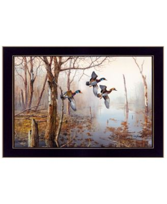 "Backwater By Jim Hansen, Printed Wall Art, Ready to hang, Black Frame, 20"" x 14"""