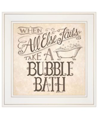 """When All Else Fails by Deb Strain, Ready to hang Framed Print, White Frame, 15"""" x 15"""""""