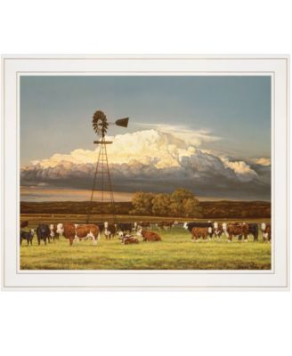 """Summer Pastures by Bonnie Mohr, Ready to hang Framed Print, White Frame, 23"""" x 19"""""""