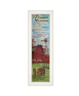 Farmers Prayer by Cindy Jacobs, Ready to hang Framed Print, White Frame, 11