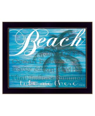 """Beach - Take Me There By Cindy Jacobs, Printed Wall Art, Ready to hang, Black Frame, 18"""" x 14"""""""