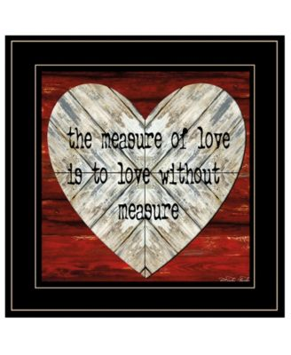 """Measure of Love by Cindy Jacobs, Ready to hang Framed Print, Black Frame, 15"""" x 15"""""""