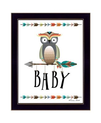 """Owl Baby By Susan Boyer, Printed Wall Art, Ready to hang, Black Frame, 14"""" x 18"""""""