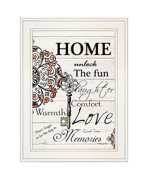 "Trendy Decor 4U Trendy Decor 4U Home / Laughter by Robin-Lee Vieira, Ready to hang Framed Print, White Frame, 15"" x 19"""