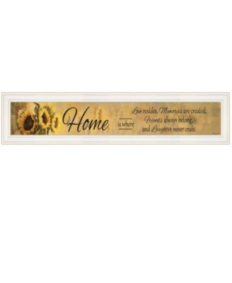 """Home ISE by Robin-Lee Vieira, Ready to hang Framed Print, White Frame, 39"""" x 9"""""""