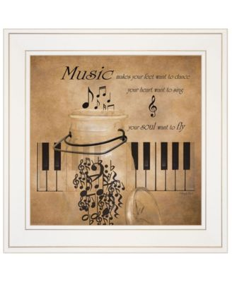 """Music by Robin-Lee Vieira, Ready to hang Framed Print, White Frame, 15"""" x 15"""""""