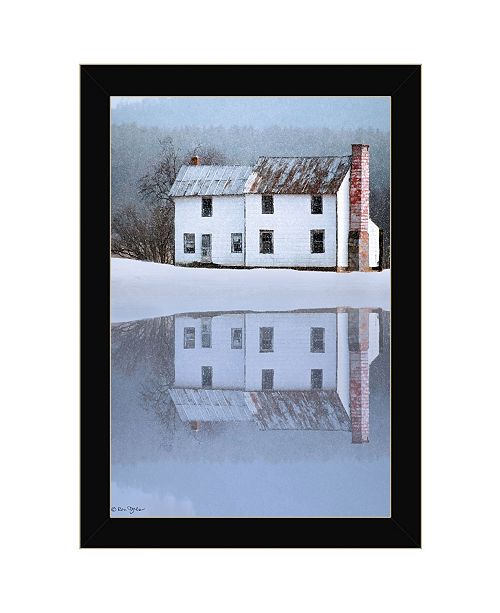 "Trendy Decor 4U Trendy Decor 4U Reflections of Home by Ron Jones, Ready to hang Framed Print, Black Frame, 15"" x 21"""