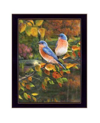 Bluebirds by Kim Norlien, Ready to hang Framed Print, White Frame, 14