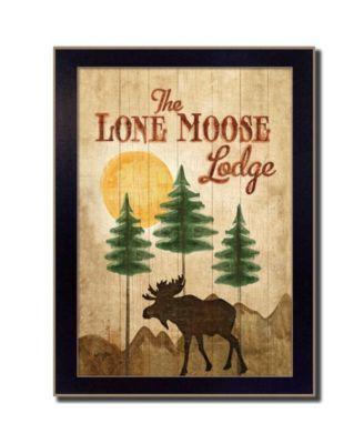 "Lone Moose By Mollie B., Printed Wall Art, Ready to hang, Black Frame, 10"" x 14"""