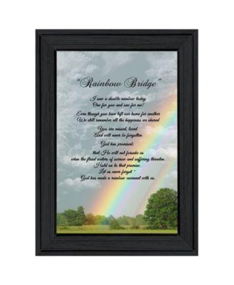 "Rainbow Bridge by Trendy Décor 4U, Ready to hang Framed Print, Black Frame, 11"" x 15"""