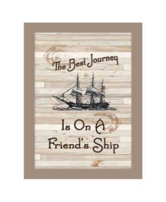 """Friendship Journey by Millwork Engineering, Ready to hang Framed Print, Taupe Frame, 10"""" x 14"""""""