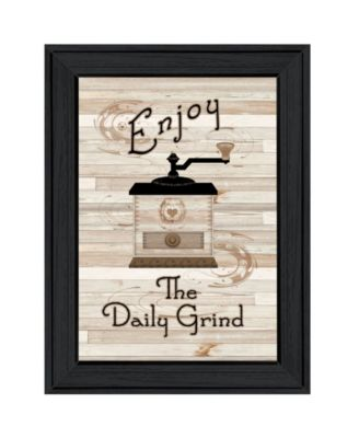 """The Daily Grind by Millwork Engineering, Ready to hang Framed Print, Black Frame, 11"""" x 15"""""""