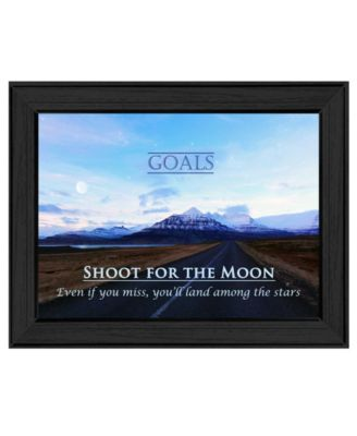 Goals By Trendy Decor4U, Printed Wall Art, Ready to hang, Black Frame, 19