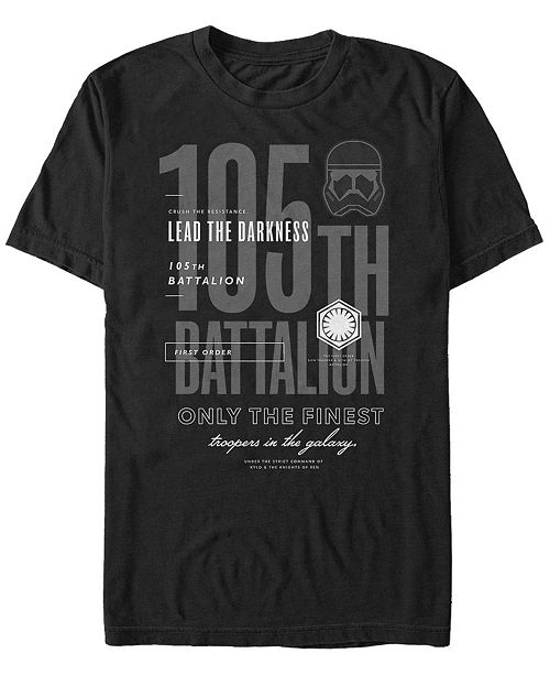 Star Wars Men's Episode IX 105th Battalion Finest Troopers in The Galaxy T-shirt