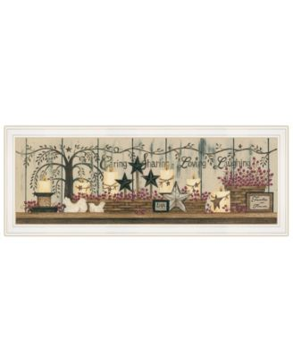 """Willow Tree Shelf Collection by Linda Spivey, Ready to hang Framed Print, White Frame, 39"""" x 15"""""""