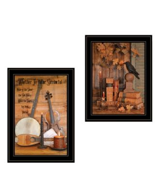 """Music / Nevermore 2-Piece Vignette by Billy Jacobs, Black Frame, 15"""" x 21"""""""