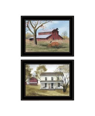 """Summer's End 2-Piece Vignette by Billy Jacobs, Black Frame, 19"""" x 15"""""""