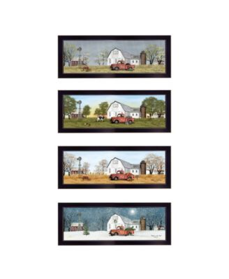 Billy Jacobs Four Seasons Collection V 4-Piece Vignette, White Frame, 27