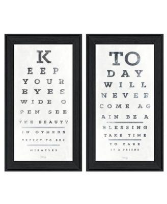 "Eye Charts 2-Piece Vignette by Marla Rae, Black Frame, 15"" x 27"""
