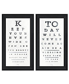 Trendy Decor 4U Eye Charts 2-Piece Vignette by Marla Rae, Frame Collection