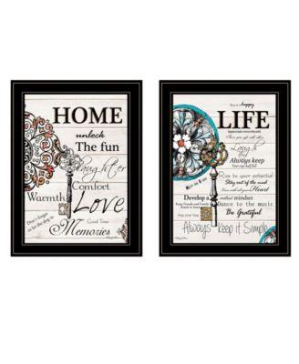 "Life / Home 2-Piece Vignette by Robin-Lee Vieira, Black Frame, 15"" x 19"""