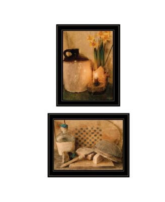 """Daffodils Cider 2-Piece Vignette by Anthony Smith, Black Frame, 15"""" x 21"""""""