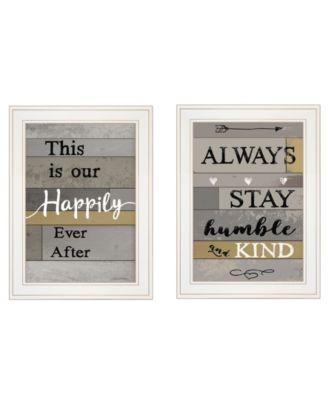 "Happily Ever After 2-Piece Vignette by Karen Tribett, White Frame, 15"" x 21"""
