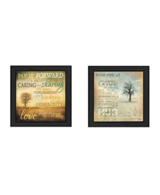 """Meaning Collection By Marla Rae, Printed Wall Art, Ready to hang, Black Frame, 42"""" x 21"""""""