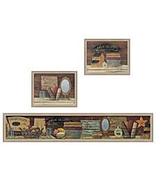 Trendy Decor 4U COUNTRY BATH II 3-Piece Vignette by Pam Britten Collection