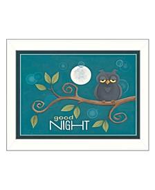 "Good Night By Tonya Crawford, Printed Wall Art, Ready to hang, White Frame, 14"" x 18"""