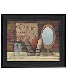 "Trendy Decor 4U Country Bath By Pam Britton, Printed Wall Art, Ready to hang, Black Frame, 13"" x 16"""