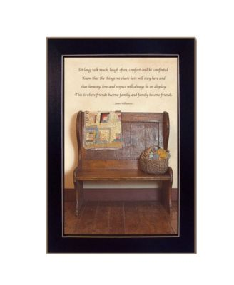 Friends Become Family By SUSAn Boyer, Printed Wall Art, Ready to hang, Black Frame, 14