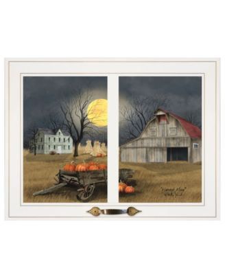 """Harvest Moon by Billy Jacobs, Ready to hang Framed Print, White Window-Style Frame, 19"""" x 15"""""""
