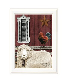 """Good Morning by Billy Jacobs, Ready to hang Framed Print, White Frame, 15"""" x 19"""""""