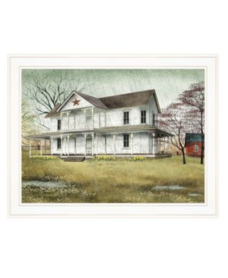 """April Showers by Billy Jacobs, Ready to hang Framed Print, White Frame, 27"""" x 21"""""""