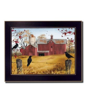 """Autumn Gold By Billy Jacobs, Printed Wall Art, Ready to hang, Black Frame, 20"""" x 26"""""""