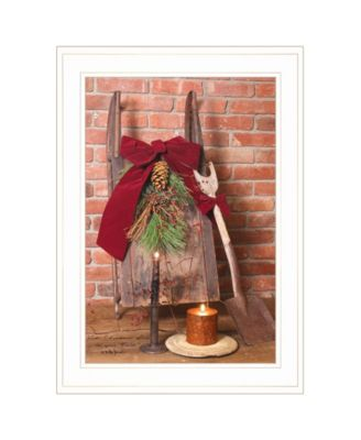 """Let Christmas Live by Billy Jacobs, Ready to hang Framed Print, White Frame, 15"""" x 21"""""""