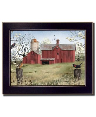 """Harbingers of Spring By Billy Jacobs, Printed Wall Art, Ready to hang, Black Frame, 28"""" x 22"""""""