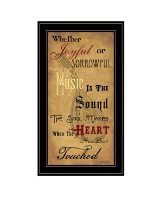 """Sound of the Soul by Billy Jacobs, Ready to hang Framed Print, Black Frame, 15"""" x 27"""""""