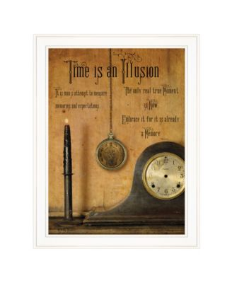 """Time is an Illusion by Billy Jacobs, Ready to hang Framed Print, White Frame, 21"""" x 27"""""""