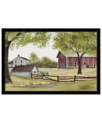 """The Old Spring House by Billy Jacobs, Ready to hang Framed Print, Black Frame, 38"""" x 26"""""""