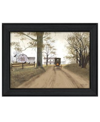 """Headin' Home By Billy Jacobs, Printed Wall Art, Ready to hang, Black Frame, 19"""" x 15"""""""