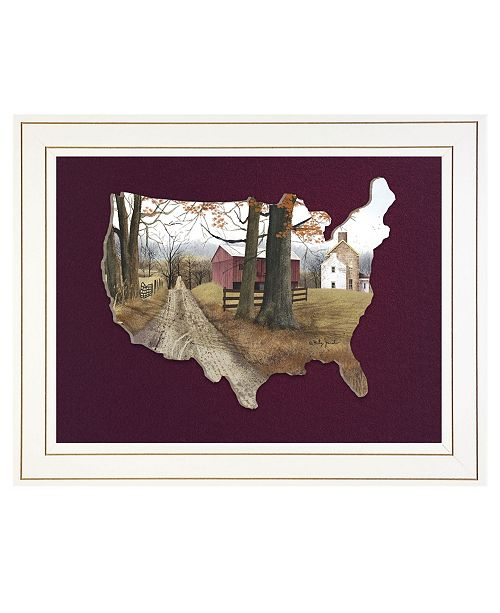 "Trendy Decor 4U Trendy Decor 4U The Road Home by Billy Jacobs, Ready to hang 3D Framed Print, White Frame, 19"" x 15"""