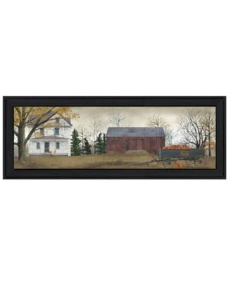"""Pumpkins For Sale By Billy Jacobs, Printed Wall Art, Ready to hang, Black Frame, 39"""" x 15"""""""