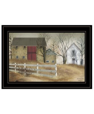 """The Old Stone Barn by Billy Jacobs, Ready to hang Framed Print, Black Frame, 21"""" x 15"""""""