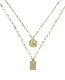 Medallions of Mine Layered Gold Plated Coin Necklace Set