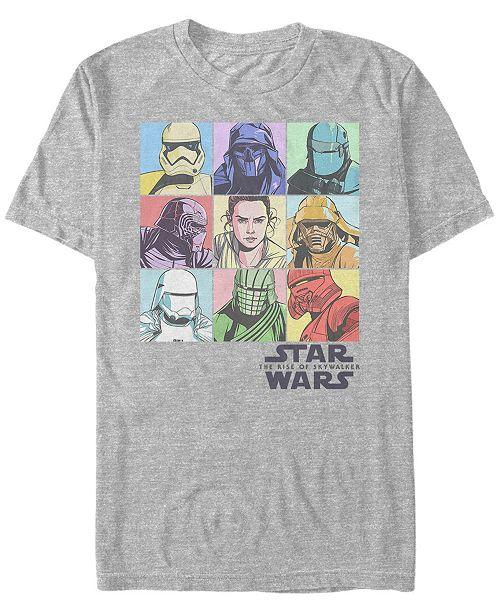 Star Wars Men's Rise of Skywalker Rainbow Pastel Character Box Up T-shirt