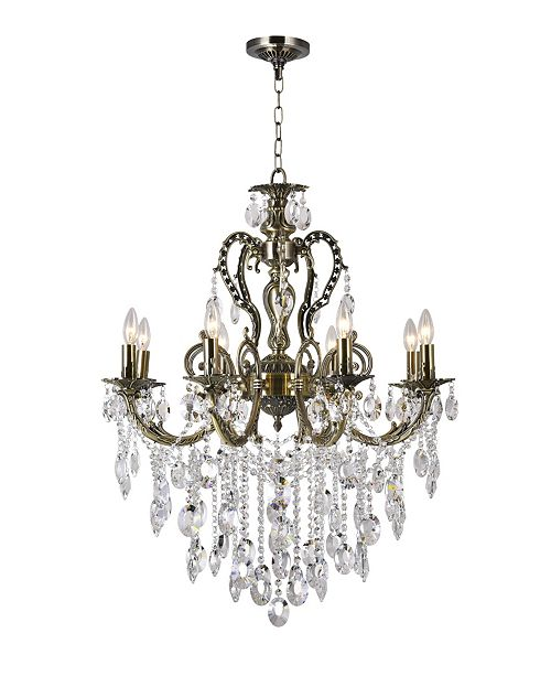 CWI Lighting Brass 8 Light Chandelier