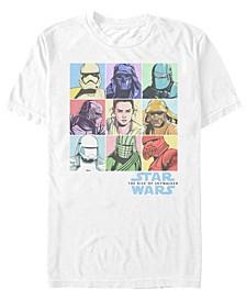 Men's Rise of Skywalker Rainbow Pastel Character Box Up T-shirt